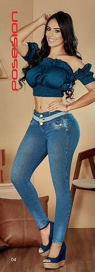 100% Authentic Colombian Push-Up Jeans #9938 by Posesion