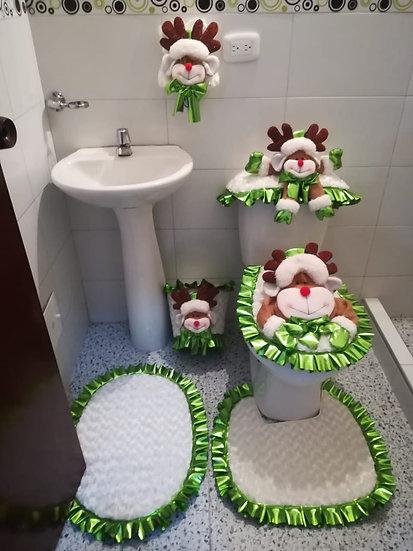 Juegos de baño navideño