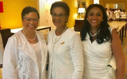 Gail with members of her Buckhead/Cascade City (BCCC) Chapter, The Links, Incorporated: Rene Pennington and Almeta Cooper