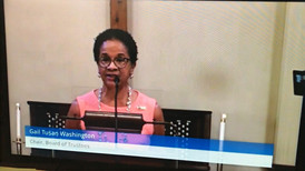 Speaking at Trustees' Sunday at First Congregational Church, UCC