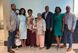The blessings of a village: Gail and her family at her Retirement Celebration