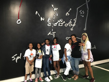 Judge Tusan, with CenterStage STEAM Campers at Mercedes Benz Stadium