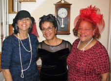 More hats and tea time with BCCC Links members: Violet Ricks and Nina Hickson