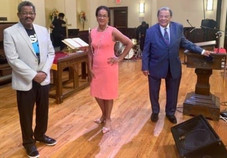 Celebrating Trustees' Sunday with Senior Minister Rev. Dr. Dwight Andrews and Minister for Global Missions, Ambassador Andrew Young