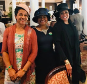 Gail with members of Brunswick (GA) Chapter, The Links, Incorporated: Shirley Douglass and Elaine Griffin at their annual Community Leaders Tea