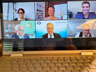 Judge Tusan joining her JAMS colleagues on American Bar Association webinar talking about resolving disputes on virtual platforms