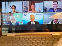 Judge Tusan joining her JAMS colleagues on American Bar Association webinar talking about resolving disputes on virtual platforms