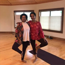 Enjoying yoga class from the best: Kellyn McGee