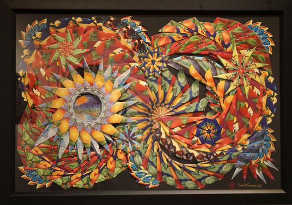"""Cornucopia #3 Swirls and Stars""       $3,900"