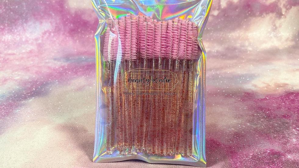 Pink Glitter Lash Wands