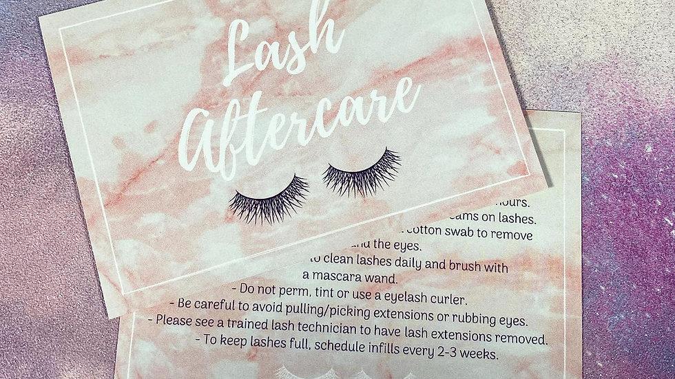 Lash Aftercare Leaflets