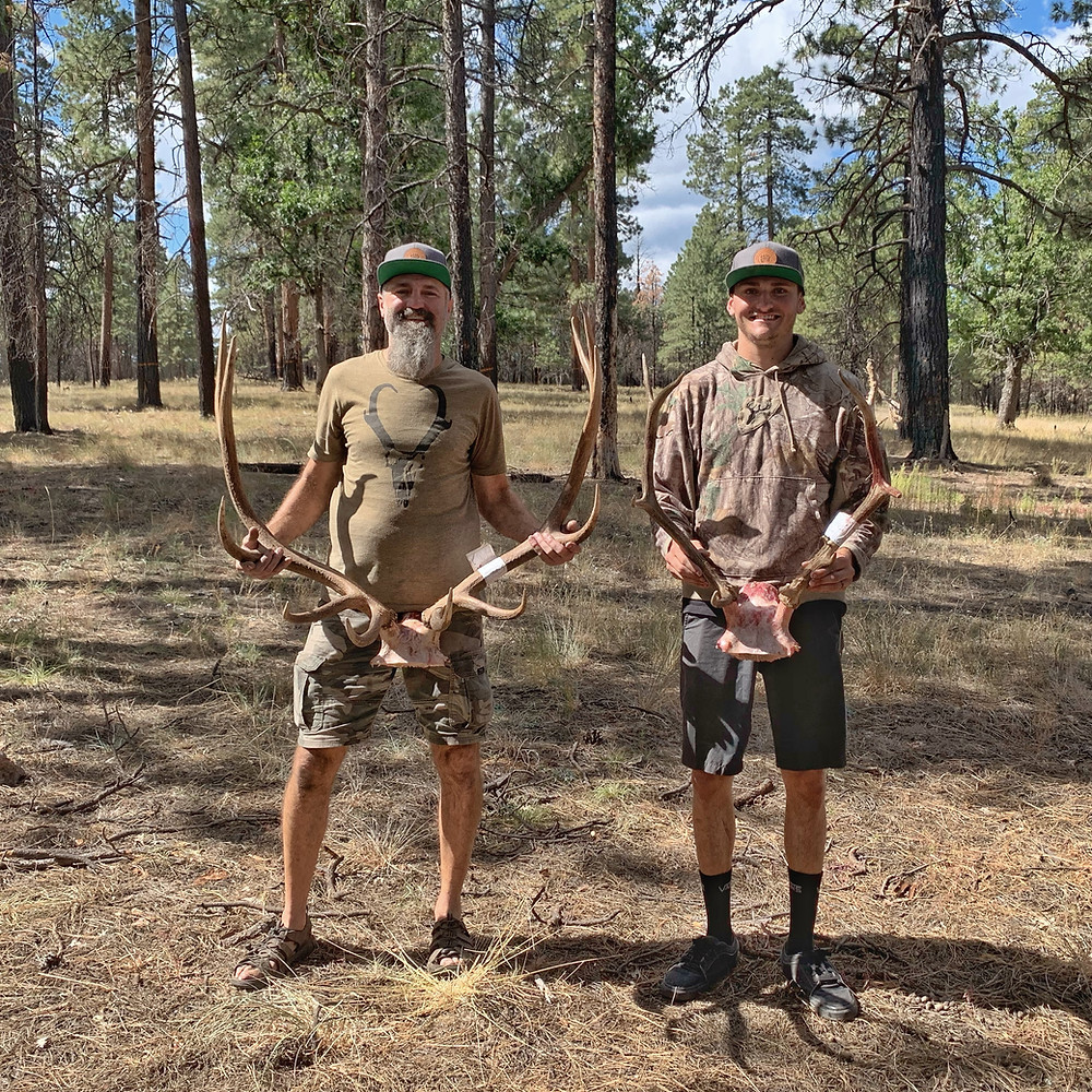 Jim and Zach with their 4B Archery Bulls