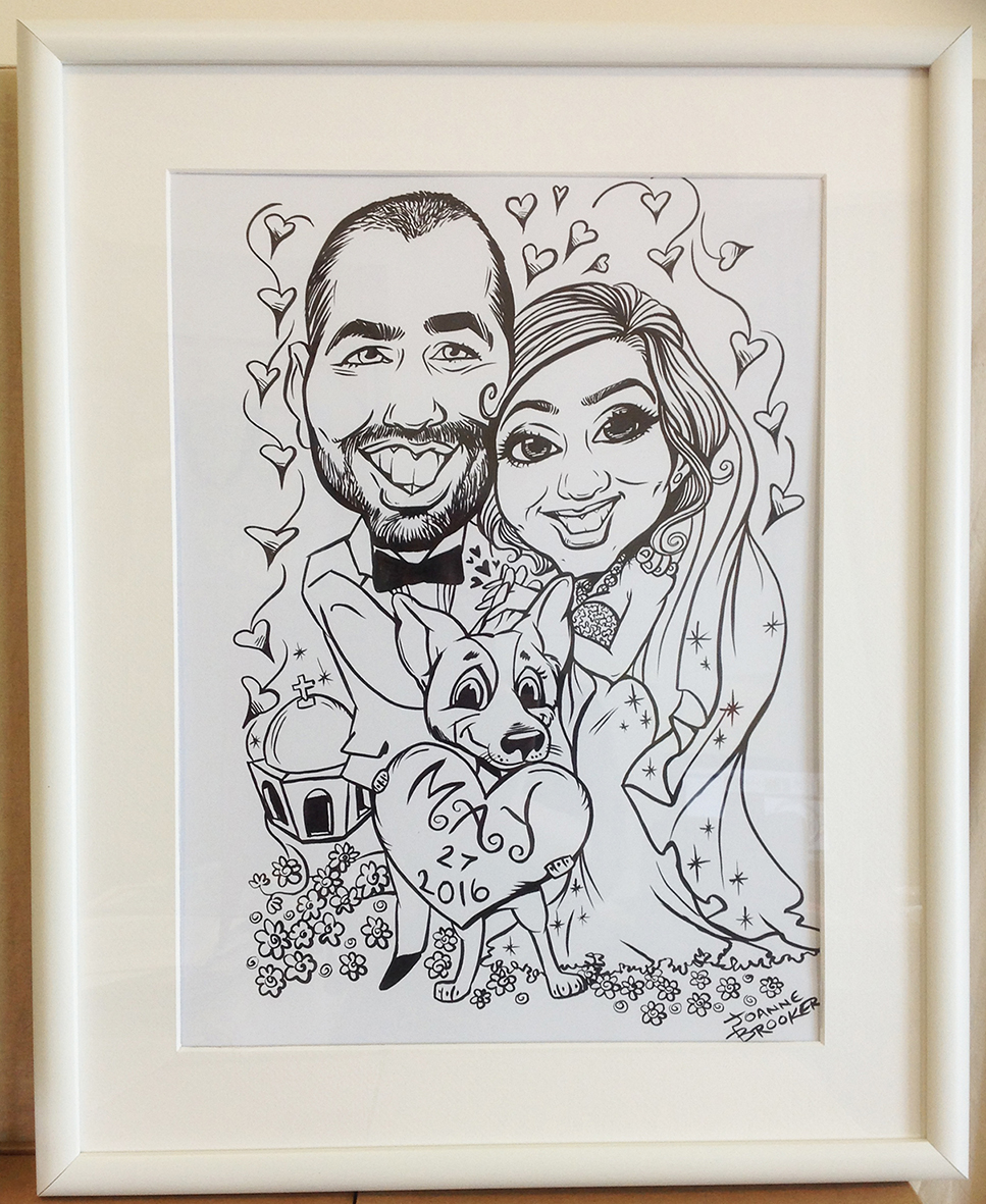 Wedding Caricature framed