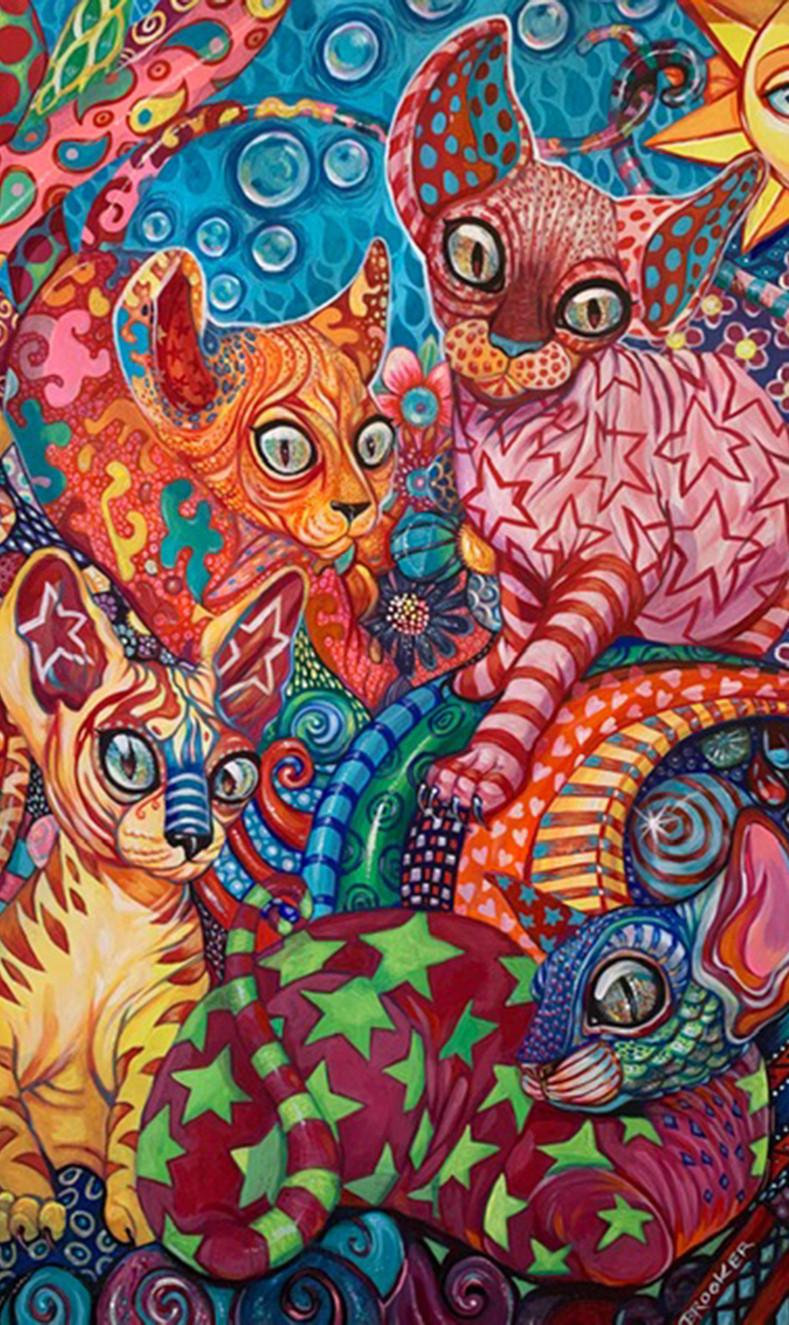 Trippy Tangerine Cats