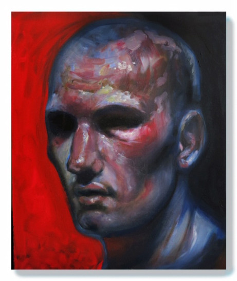 Boxer Red/ Oil on Canvas