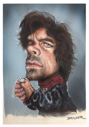 Tyrian Lannister. Acrylic on paper