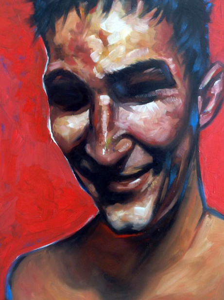 Boxer. Oil on Canvas
