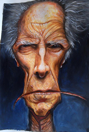 Clint. Acrylic on paper