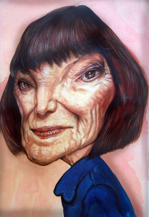 Mary Quant. Acrylic on paper