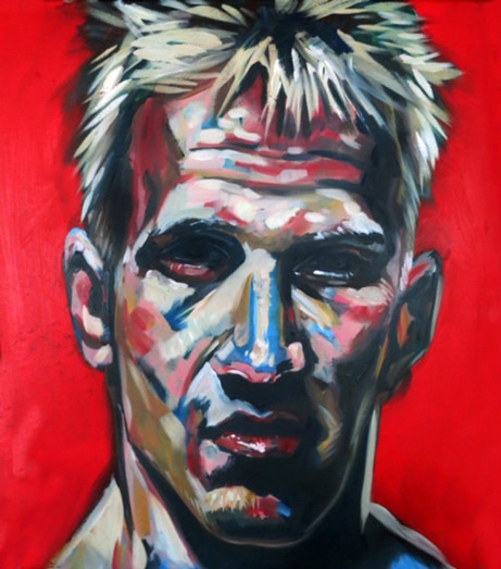 MMA Fighter. Oil on Canvas