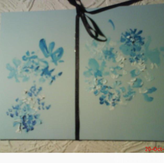 Velvet handpainted greeting card