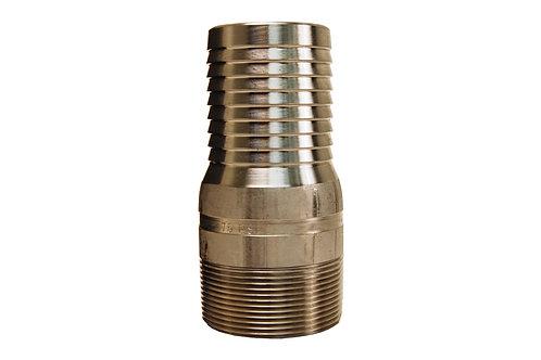 "King Nipple - Combination - 1-1/4"" - NPT Threaded - 316 Stainless Steel"