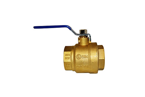 "Ball Valve - Full Port - 2"" - Female Threads - Brass"
