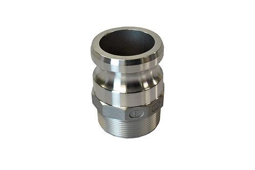"""Camlock - Male Camlock x Male Pipe - 2-1/2"""" - Aluminum - 250F"""