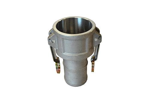 "Camlock - Female Camlock x Hose Barb - 1"" - Aluminum - 100C"
