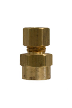 "Compression Fitting - Female Adapter - 1/4"" Compression x 1/8"" FPT - Brass"