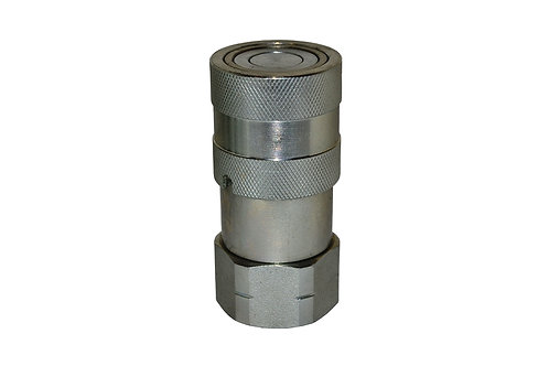 "Hydraulic Quick Coupler - ISO 16028 Flat Face - Female - 1/2"" Coupler x 1/2"" NPT"