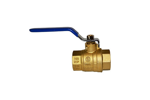 "Ball Valve - Full Port - 1"" - Female Threads - Brass"