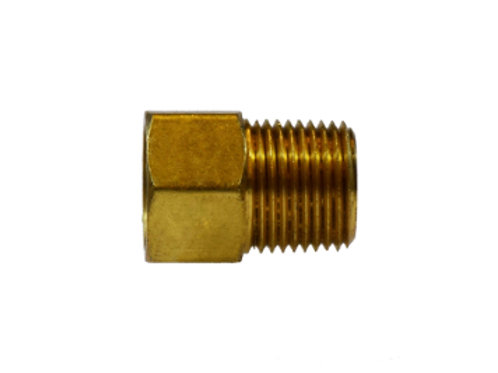 "Inverted Flare Fitting - Male Adapter - 1/4"" Inverted Flare x 1/8"" MPT - Brass"