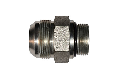 "Hydraulic Adapter - Straight Thread - 1/2"" Male JIC x 1/2"" Male ORB - Steel"