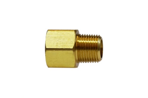 "Pipe Fitting - Extender Adapter - 1/2"" Female Pipe x 3/8"" Male Pipe - Brass"