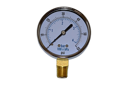"Utility Dry Gauge - 2-1/2"" - 0 to 60 PSI - LM 1/4"" NPT"