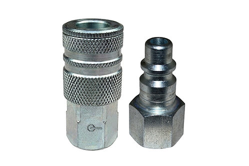 "Industrial Interchange - 3/8"" Coupler - 3/8"" Plug - 3/8"" Female Pipe Threads"