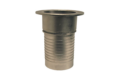 """Notched Turned Back Nipple - 4"""" Stem - Stainless Steel"""