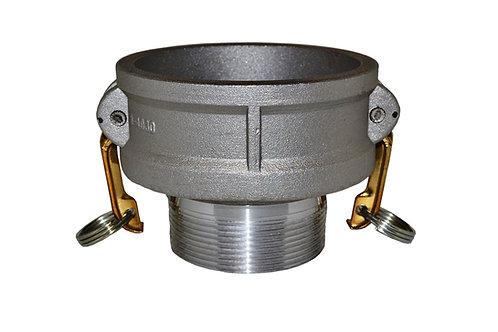 """Jumpsize Camlock - 4"""" Female Camlock X 3"""" Male Pipe - Aluminum - 4030B"""