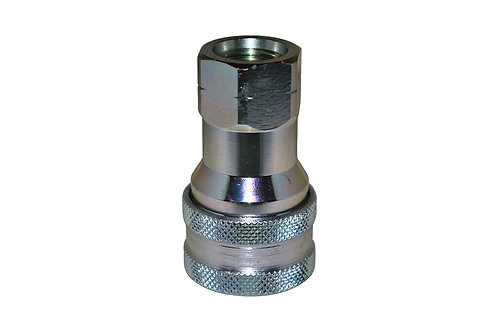 """Hydraulic Quick Coupler - 1/2"""" Agricultural - 3/4""""-16 (#8) ORB - Female Coupler"""