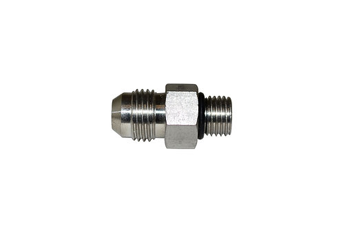 """Hydraulic Adapter - Straight Thread - 3/8"""" Male JIC x 1/4"""" Male ORB - Stainless"""