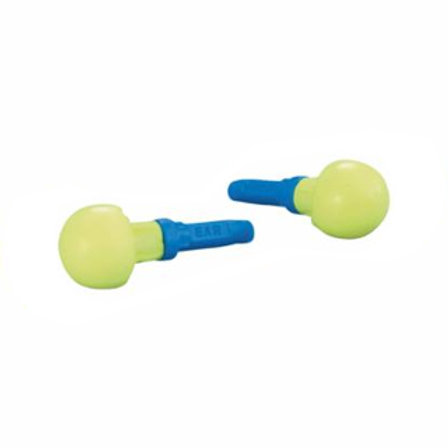 Softouch Foam Earplugs - Blue/Yellow - Uncorded - Push-Ins - 100 Pair