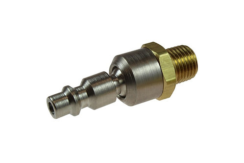 """Ball Swivel Connector - Industrial - 1/4"""" Connector x 3/8"""" Male Pipe - 15-06BS"""