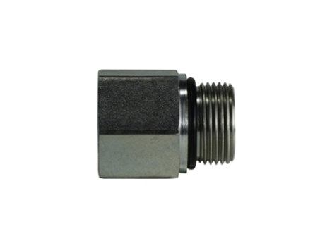 "Hydraulic Adapter - Female Adapter - 3/8"" Female Pipe x 3/8""-19 Male BSPP"