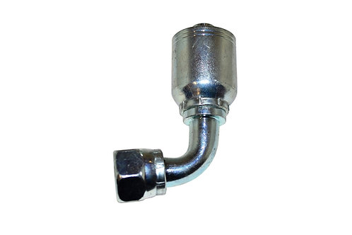 "Hydraulic Crimp Fitting - 5/8"" Female JIC 90° x 1/2"" Hose Barb - C292"