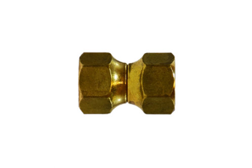"""SAE 45° Flare Fitting - Forged Swivel - 1/4"""" Female Flare - Brass"""
