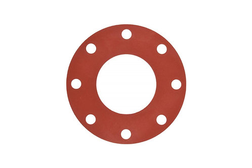 "Flange Gasket - Raised Face Flange - 4"" - Rubber - Red"