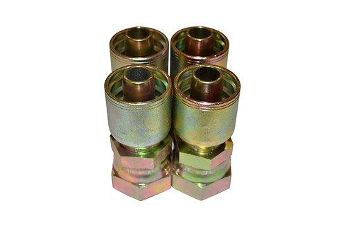 "Hydraulic Crimp Fitting - 1"" Female Seal-Lok x 3/4"" Hose Barb - E205 4 Pack"