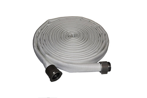 """Fire Hose - Double Jacket - 2-1/2"""" x 50 FT - Lay Flat - Aluminum NST Ends"""