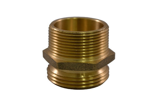 """Fire Hydrant Adapter - 3"""" Male NPT x 2-1/2"""" Male NST/NH - Brass"""